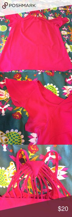 Flirty Sleeve Pink City Chic Top! Hot pink version of stock photos provided. Great going out top! City Chic Tops Blouses