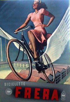 Biciclette Frera 1940 | Gino Boccasile