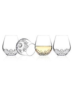 Godinger Dublin Stemless Wine Glasses Set of 4 #Dillards