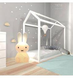 habitación infantil montessori Mint y Mostaza