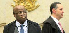 Joaquim Barbosa, presidente do STF (Supremo Tribunal Federal), no início da sessão desta quinta-feira