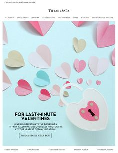 Tiffany & Co. Valentine's Day email 2015