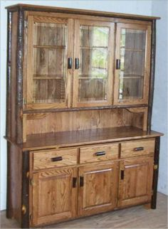 china hutches | ... door hutch hickory trimmed oak shown cherry or walnut hutch hickory