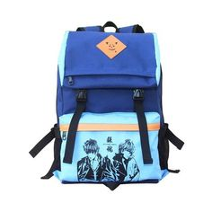 Anime fans Japanese Anime Student Book Bag Cosplay Anime Cartoon... ($14) ❤ liked on Polyvore featuring bags, backpacks, cartoon character backpacks, animal bags, backpack bags, cartoon backpack and blue backpack