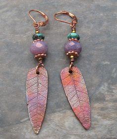Copper Mesa Earrings by SilverParrot on Etsy, $25.00