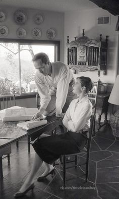"""timelessaudrey: """"Audrey and Mel photographed by Don Ornitz in Beverly Hills,1958 """""""