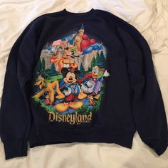 Vintage DisneyLand Crewneck Sweatshirt Navy sweatshirt. Super comfy. Disney Tops Sweatshirts & Hoodies