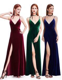 Ever-Pretty Green Velvet Long Evening Party Ballgown Prom Bridesmaid Dress 07181