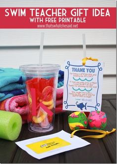 Swim teacher gift idea.