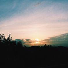 Sunset from Forte Belvedere // @allafiorentina