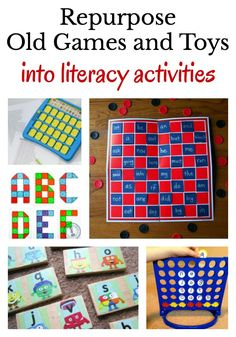 Repurpose all those old toys and games into fun literacy activities for kids.