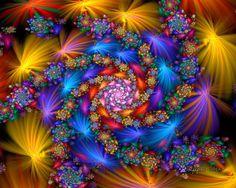 Rainbow Elliptic Spiral by wolfepaw on DeviantArt Fibonacci Spiral, Hippie Art, Photoshop Cs5, Fractal Art, Fractal Images, Op Art, Sacred Geometry, Wonderful Images, Art Forms