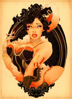 Cool Artwork of a New Age Pin Up