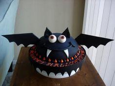 Cute as a button! Halloween-themed cake by Jennifer Hermann, Los Angeles, California....