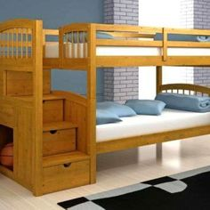 Custom Bunk Bed With Stairs Plans: Best Bunk Bed With Stairs Plans Twin White Mattress Stairs In Left Side Accessories