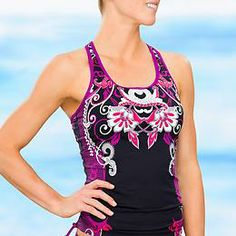 Truckee Tri Ready To Run Tankini | Athleta $72 OMG I love this so much! Why must it cost so much?! :(