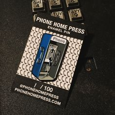 Your favorite communication artifact, in pin form. Looks dope on your hat, backpack, anything else! 1.5in. Tall Soft Enamel Double posts on the...