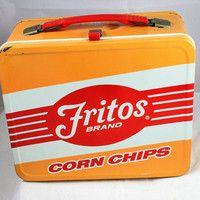 Vintage Lunchbox, Frito Chips Lunch Box, vintage lunchbox, antique lunch box, old lunch box Retro Lunch Boxes, Lunch Box Thermos, Tin Lunch Boxes, Metal Lunch Box, Lunch Bags, Whats For Lunch, Out To Lunch, Fritos Corn Chips, Vintage Tins