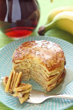 Recipe for Four-Ingredient Protein Pancakes from Willow Bird Baking - Sweets_Pfannkuchen & Waffeln - Healthy Treats, Easy Healthy Recipes, Low Carb Recipes, Cooking Recipes, Healthy Lunches, Detox Recipes, Healthy Filling Meals, Easy High Protein Meals, Healthy Meals For Two