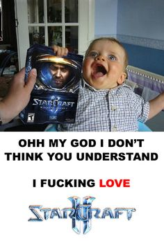 Ok, I do not now nor have I ever played Starcraft - but this baby cracks me up every time I look at it.