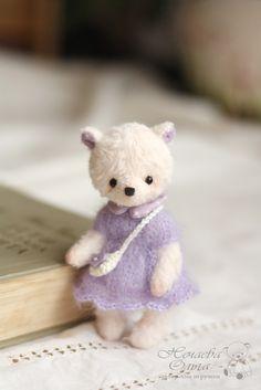 Teddy Bears handmade.  Ellis (11 cm.).  Olga Nechaev.  Arts and crafts fair.  Teddy bear handmade teddy