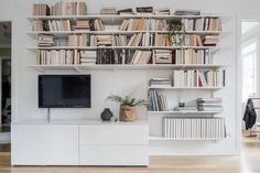 White and wooden apartment in Stockholm