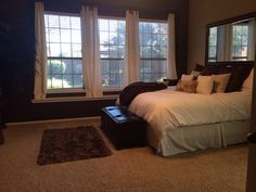 Cream, browns and white Master bedroom