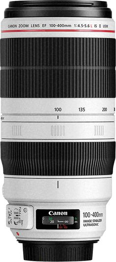 Canon - EF 100-400mm f/4.5-5.6L IS II USM Telephoto Zoom Lens - White, 9524B002