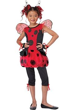 Mememall Fashion Cute As a Bug Ladybug Insect Child Halloween Costume >>> Click image for more details.