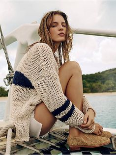 Free People Striped At The Seams Pullover, $168.00