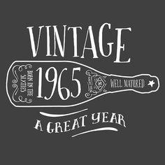 50th Birthday Womens Vneck T-Shirt 1965 Birth von DesignInventPrint