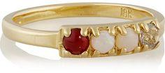 Lulu Frost CODE Cool 18-karat gold multi-stone ring