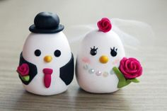 Love Bird Wedding Cake Topper (Custom Made Order - Choice of Colour and Style)