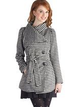 Carefully Chosen Coat in Houndstooth | Mod Retro Vintage Coats | ModCloth.com