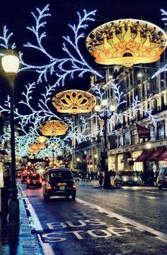 Regent Street at Christmas ~ London, England