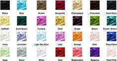 COLOR CHART - JenJenHouse.com  (for Fantastic Sheath V-neck Floor-Length Tulle  Satin Bridesmaid Dress with Ruffle  Beading (007000826))