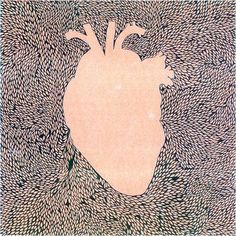 Heart Silhouette, ink on paper, illustration. Illustration Design Graphique, Heart Illustration, Paper Illustration, Mystic Girls, Ouvrages D'art, Anatomical Heart, My Funny Valentine, Illustrations, Color Shapes