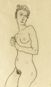 Картинки по запросу Standing Nude, 1911 Egon Schiele