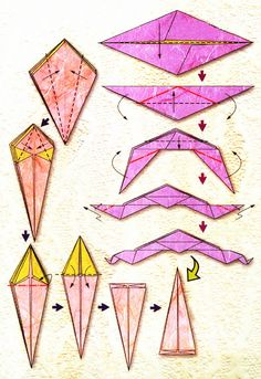 Diagram of origami of the zodiac: Libra Origami Simple, Origami Instructions, Libra Zodiac, Cool Pins, Balance, Signs, Voici, Japanese, Cool Stuff