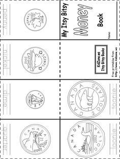 Canadian money coins book printable free – – Food for Healty Teaching Money, Teaching Math, Teaching Activities, Money Activities, Activities For Kids, Math Classroom, Kindergarten Math, Elementary Math, Mini Books