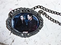 Addams Family  Gomez and Morticia Necklace by DahliaDeranged, $16.00