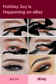 81a76188bd1 2x New Cat Line Eye Makeup Eyeliner Stencils Templates Makeup Tools Kits  For Eye