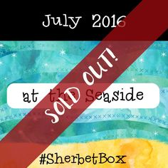 #SherbetBox - in July 2016 the second box was released and it quickly sold out too - the theme was a lovely seaside one, had so much fun designing this one...  #stationery #stationerybox #subscription #subscriptionbox #beach  #seaside #greetingcard #gift #paper #snailmail