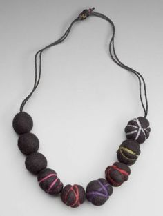 Necklace |  Designer ? . Japanese, late 20th to early 21st century.  Wool felt.
