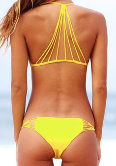 cool, yellow bikini