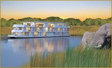 Africa#Set off along the banks of Chobe National Park, home to one of the densest populations of wildlife in Africa, as you escape the busy world and relax in this serene wildlife environment. Encounter elephants, lions, hippos and buffalo on excursions by boat and open-air vehicles#  AMA Waterways