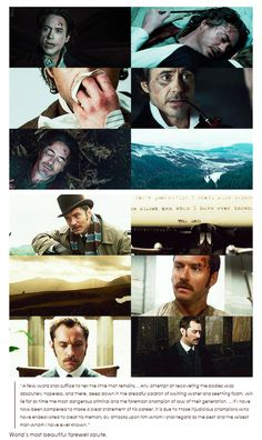 """The most beautiful farewell (""""Sherlock Holmes: A Game of Shadows"""" - Robert Downey Jr. and Jude Law)."""