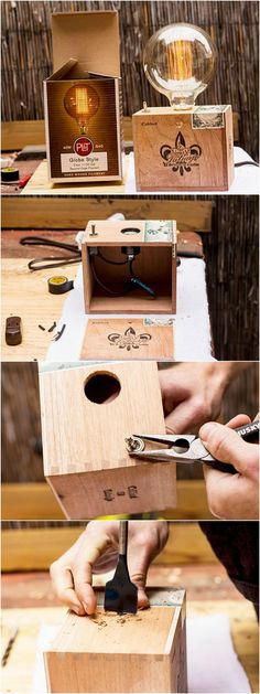 DIY: The Cigar Box Table Lamp Table Lamps