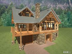 1592 sq ft - Panorama RCM CAD DESIGN DRAFTING LTD is an architectural design firm primarily specializing in log and timber construction projects Cabin House Plans, Mountain House Plans, Log Cabin Homes, Rustic House Plans, Log Cabin Floor Plans, Rustic Lake Houses, Log Cabins, Prefab Cabins, Cottage Plan