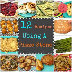 12 Recipes To Make On A Pizza Stone---->I finally have a reason to use my pizza stone!!